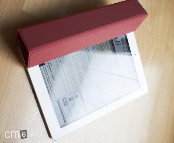 Bei Sonneneinstrahlung spiegelt das Display des iPads sehr stark