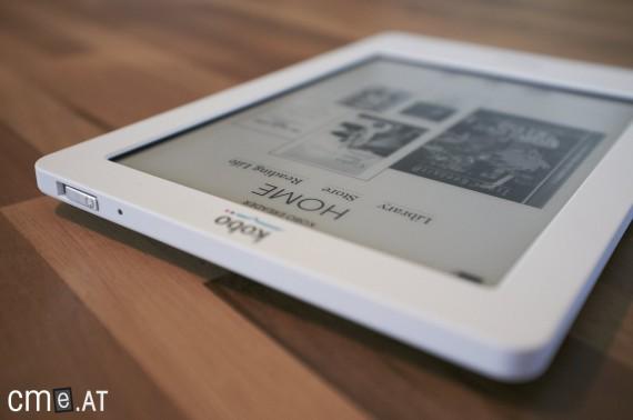 Schlichtes Design mit nur wenigen Buttons - der Kobo eReader setzt auf den Touch-Faktor
