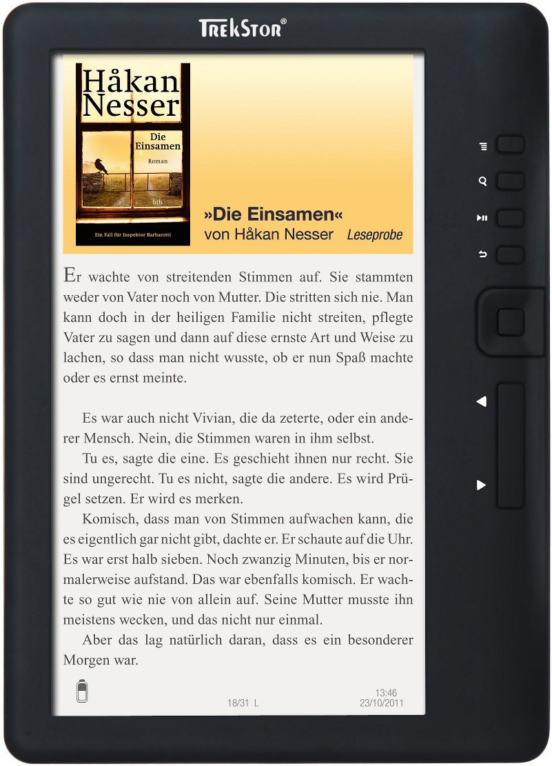 trekstor ebook reader 3.0 come