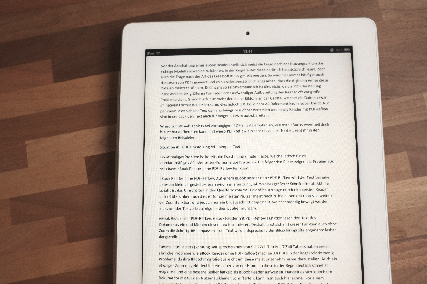 Pdf Darstellung Tablet Pc Vs Ebook Reader Allesebookde