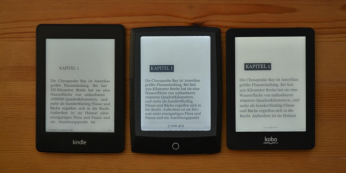 Videovergleich Bei Tageslicht Kobo Glo Vs Kindle Paperwhite Vs Bookeen Hd Frontlight Allesebook De