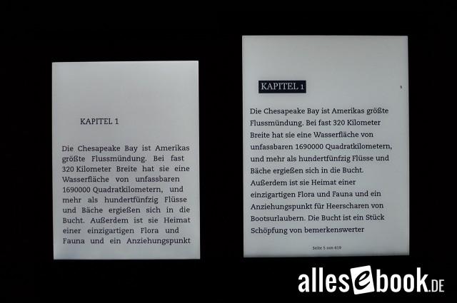 Beleuchtungen des H2O und Paperwhite im Vergleich