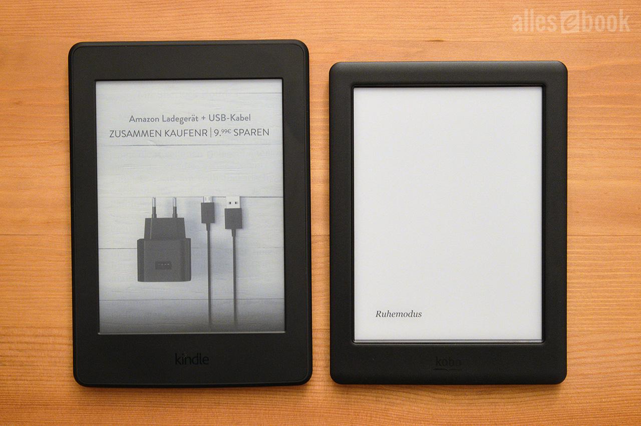 Kindle Paperwhite Und Kobo Glo Hd Im Vergleich Allesebook De