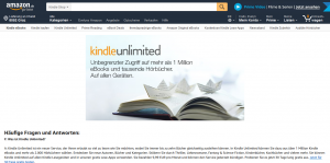 Kindle Unlimited Webseite