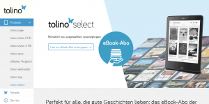 Tolino Select Webseite