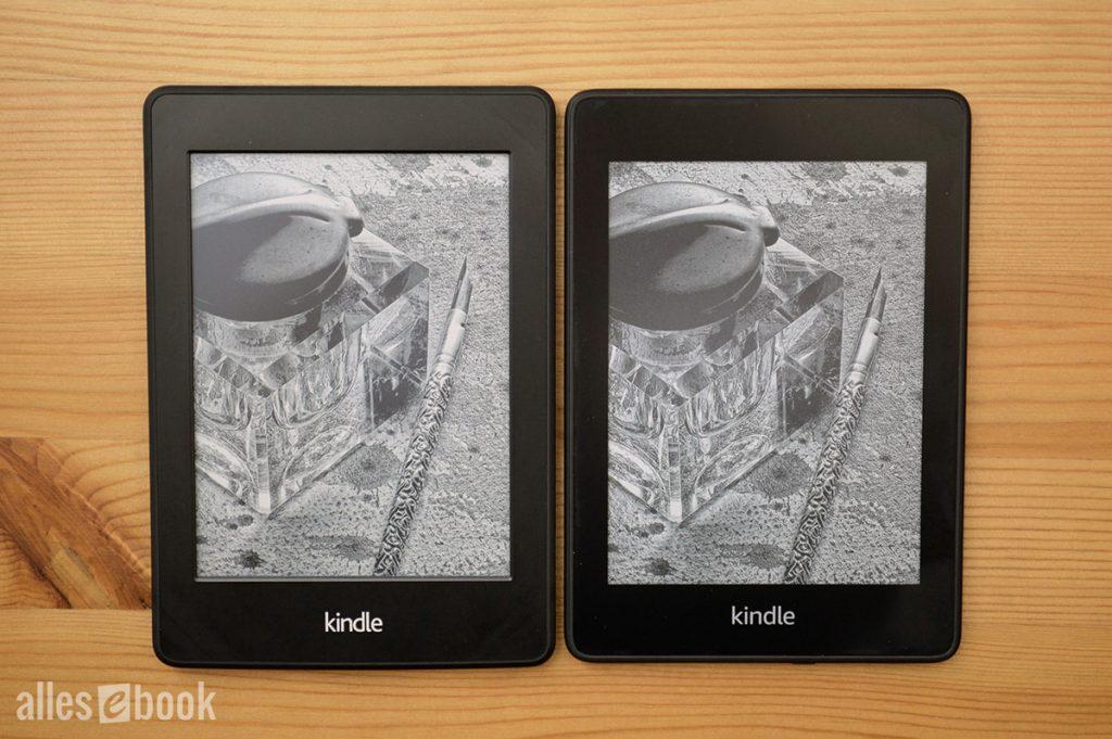 Kindle Paperwhite 2 und Kindle Paperwhite 4 im Vergleich