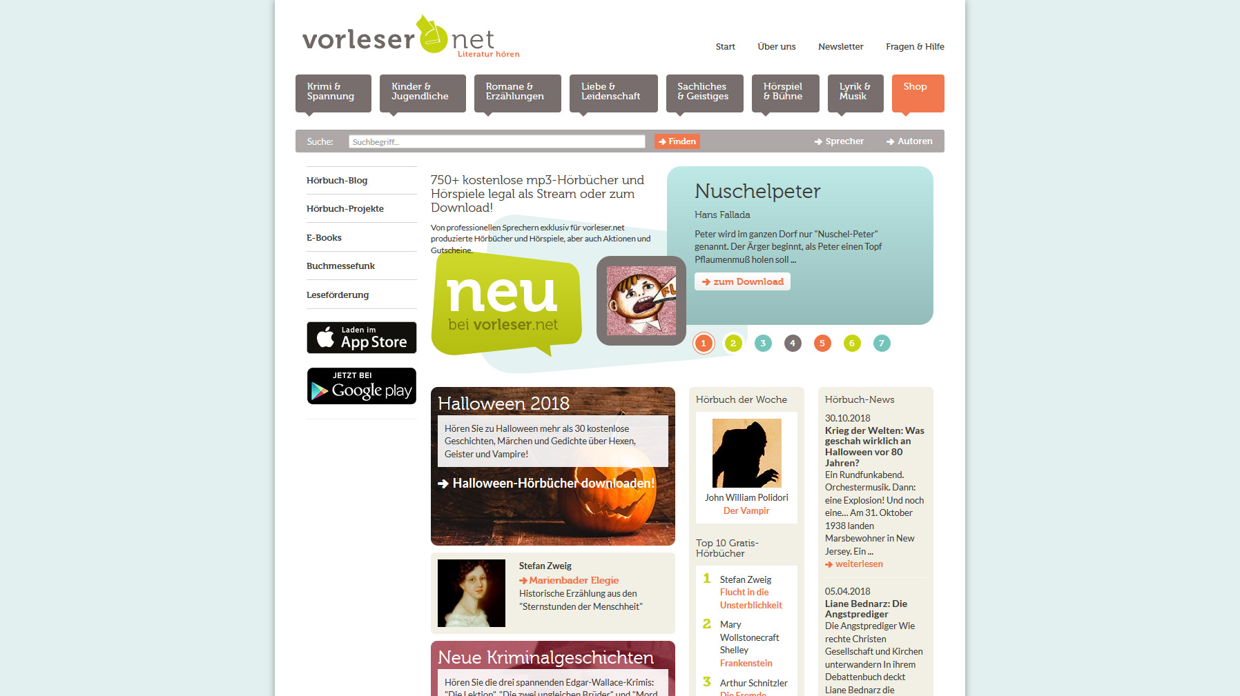 Hörbücher: 7 Empfehlungen für Anbieter von kostenpflichtigen und kostenlosen Downloads